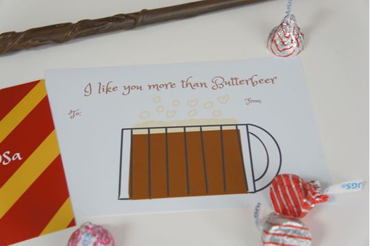 Picture of I like you more than Butterbeer - Harry Potter Valentine's Day Card
